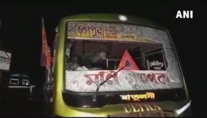 Amit Shah in West Bengal: Attack on BJP workers bus going to Amit Shah's rally in Mamata Banerjee's West Bengal