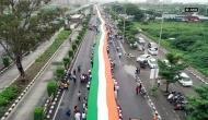 Gujarat: 1100 feet-long flag unfurled in Surat
