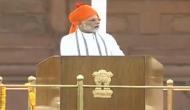 लाल किले से बोले PM मोदी, 2014 में देश ने नई सरकार बनाने के साथ देश को बनाने का काम किया
