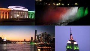 United States honor India's Independence by lighting up Empire State Building and Niagara Falls in tricolor