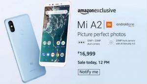 फ्लैश सेल के जरिए आज खरीदें Mi A2, इस वेबसाइट पर मिल रहा है स्मार्टफोन खरीदने का मौका