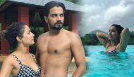 बकरीद के बाद हिना खान ने की पूल पार्टी, पानी में बिकनी पहन दिखाई कातिलाना अदाएं