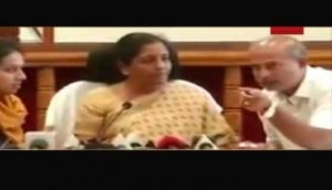 Defence Minister Nirmala Sitharaman lost her cool on Karnataka minister during press meet; says, 'Let it get recorded'