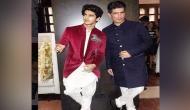Ace designer Manish Malhotra strikes a pose with Ishaan Khatter