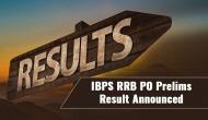 IBPS RRB PO Prelims Result Announced:  Check your Preliminary results at ibps.in; Mains admit cards to be out soon