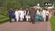 भारत बंद को लेकर पूरे जोश में कांग्रेस, राहुल गांधी ने राजघाट से शुरू किया मार्च