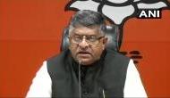 सोनिया गांधी ने वोटबैंक के लिए पास नहीं होने दिया तीन तलाक बिल : रविशंकर प्रसाद