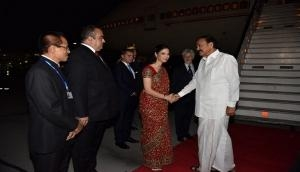 Vice President  Venkaiah Naidu arrives in Romania