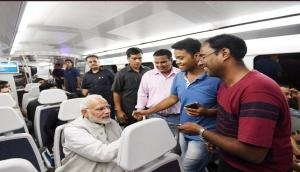 PM Modi travelled in Delhi Metro with passengers to avoid traffic on Delhi road; see video and pics