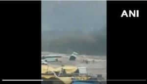 Video: Luxury tourist bus washed away into flooded river in Manali after heavy rainfall in Himachal Pradesh