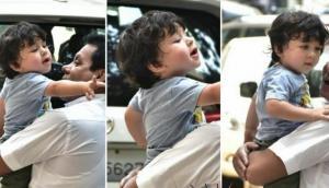 छोटे नवाब तैमूर हुए अपने पापा सैफ से नाराज, कुछ इस तरह जाहिर किया गुस्सा तस्वीरें वायरल