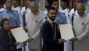 राजीव गांधी खेल रत्न पुरस्कार से सम्मानित हुए विराट कोहली और मीराबाई चानू