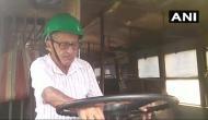 BJP के बंगाल बंद में हिंसा, बसों में लगाई आग, तोड़फोड़ से बचने को हेलमेट पहन बस चला रहे ड्राइवर