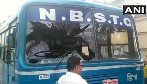 West Bengal bandh: Buses torched, trains blocked by protesters
