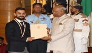 Rajiv Gandhi Khel Ratna Award 2018: Indian skipper Virat Kohli received the highest sporting honour in the country by Prez Kovind; see pics