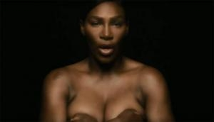 Serena Williams go 'topless' to sing I Touch Myself song to raise breast cancer awareness; see video
