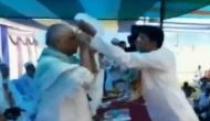 Video: Bihar Minister refuses to wear skull cap offered to him at an event; opposition alleges JDU is under RSS ideology