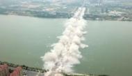 एक सेकेंड में उड़ा दिया चीन का ये 23 साल पुराना 5000 फुट लंबा पुल, देखें दिल दहला देने वाला वीडियो
