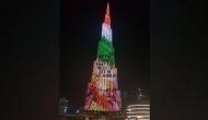 Burj Khalifa lit up with Bapu's image on Gandhi Jayanti
