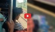 Mumbai: OMG! Girl just got saved from falling off a Mumbai local train; video went viral