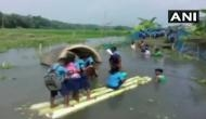 In absence of bridge, these Assam kids swim daily to reach school