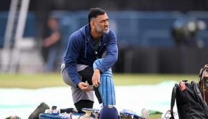 MS Dhoni mocks rain in Australia by practicing indoors; watch video
