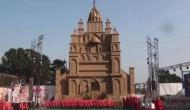 Pandal made of peanut shells grabs attention of devotees