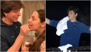 Happy Birthday Shah Rukh Khan: King Khan celebrated his birthday with wife Gauri and the family of fans outside Mannat