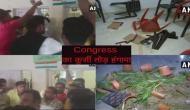 चुनावी माहौल में आपस में ही भिड़े कांग्रेसी, पार्टी ऑफिस में हुआ कुर्सी तोड़ हंगामा