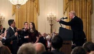 प्रेस कॉन्फ्रेंस में ट्रंप और CNN के रिपोर्टर में हुई बहस, मच गया हंगामा