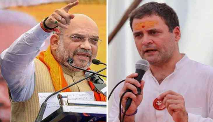 """Image result for Rahul Gandhi and Company went into Mourning After the Balakot Air Strike"""": Amit Shah"""