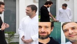 पहली बार भारत आए Twitter के CEO जैक दोरजी, राहुल गांधी से की मुलाक़ात