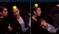 Cristiano Ronaldo becomes ball kid at ATP Finals