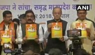 MP चुनाव 2018: BJP का घोषणापत्र जारी, हर साल 10 लाख नौकरियों का किया वादा