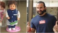 Saif Ali Khan responses over doll modelled on his son Taimur; says 'Maybe I should trademark his name'