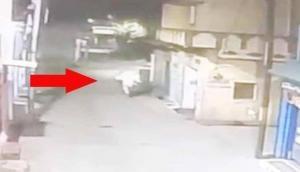 CCTV फुटेज में नजर आया भूत! सड़क क्रॉस कर रहे लोगों का कर रहा था पीछा