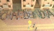 Hockey World Cup: 'Chak de India' formation by students to support Indian team