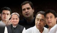 Rahul Gandhi drops Sachin Pilot, opts Ashok Gehlot as Rajasthan Chief Minister; Kamal Nath rises in MP