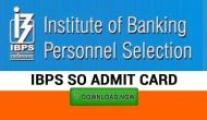 IBPS SO Admit Card 2019: RELEASED! Here's how to download prelims exam hall tickets