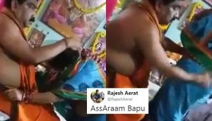 Watch: This 'Dhongi Baba' openly molests his female followers, accepts namashkar by rubbing their buttocks; see video