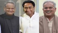 आज तीन राज्यों में होगा कांग्रेस का राजतिलक, तीनों राज्य के CM लेंगे शपथ