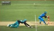 VIDEO: BBL के पहले ही मैच हुआ विवाद, अंपायर के आउट देने के बाद भी पैटिन्सन ने की बल्लेबाजी
