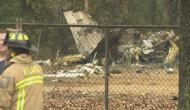 US: Shocking! Jet crashed into a football field; four people dead; see video