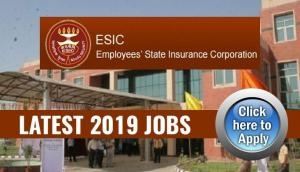 ESIC Recruitment 2018: Apply for over 1000 posts and get posted in these states; read details to apply