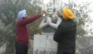 Rajiv Gandhi's statute vandalised in Ludhiana, Capt Amrinder Singh asks Sukhbir to apologise