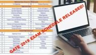 GATE 2019 Exam Schedule: From exam date to admit card; here's complete details about Engineering competitive exam
