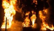 Major fire breaks out at exhibition grounds in Hyderabad
