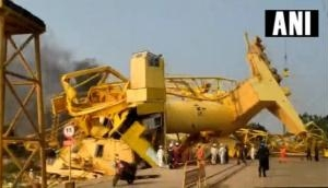 AP Crane collapsed: At least 1 dead and 10 injured after two cranes collapsed in Kakinada Deep Seaport; many trapped