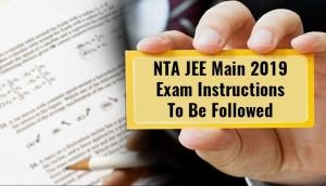 JEE Main Exam 2019: Check out the important instructions for tomorrow exam released at jeemain.nic.in