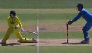 Video: धोनी ने बिजली की फुर्ती से की स्टंपिंग, ऑस्ट्रेलियाई बल्लेबाज को नहीं हुआ यकीन